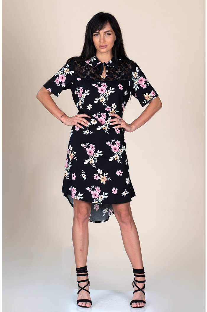 Floral dress with collar Rozario