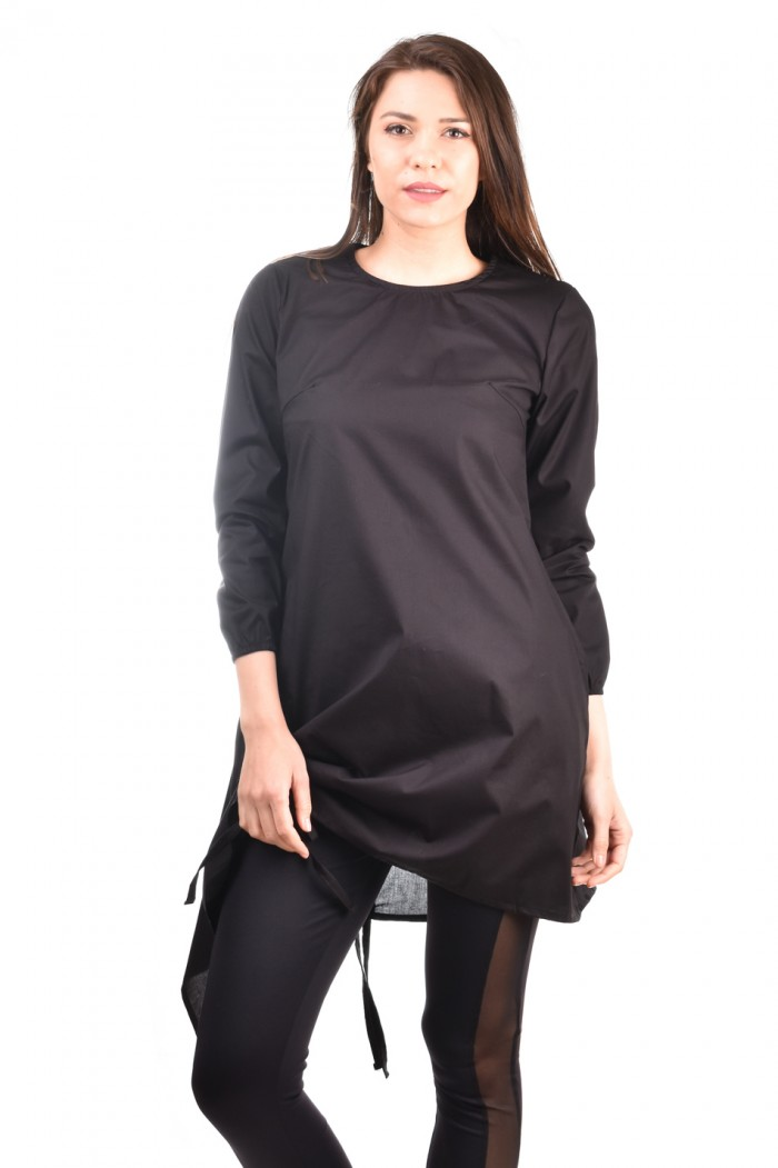 Tie tunic in black Garsiya