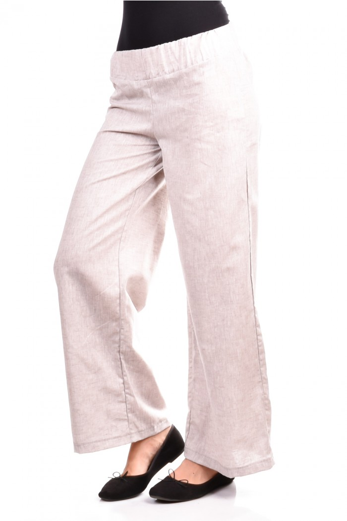 Pants from Len in Beige Stoina