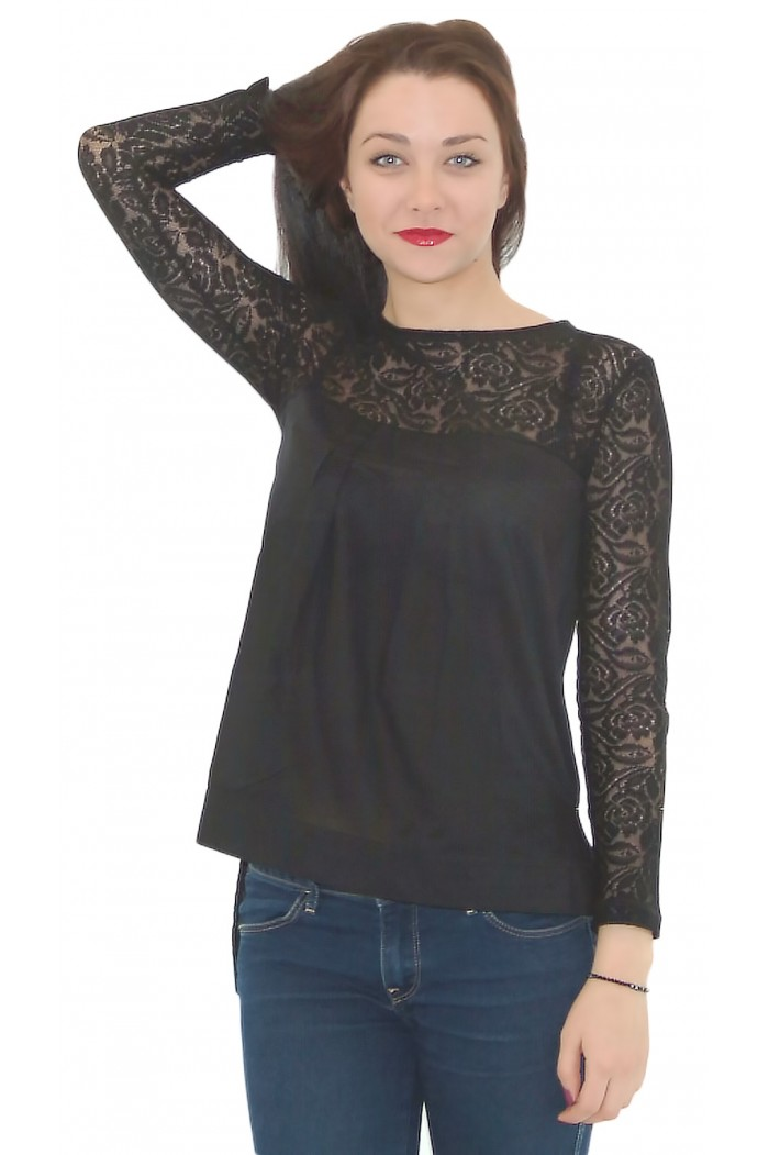 Lubina Blouse with Lace
