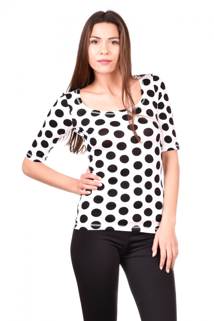 Blouse on black dots Kloe