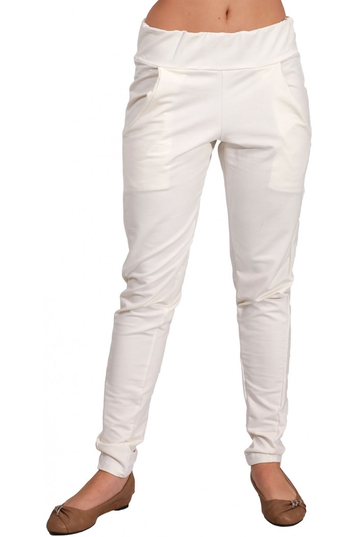Pavilia White Trousers