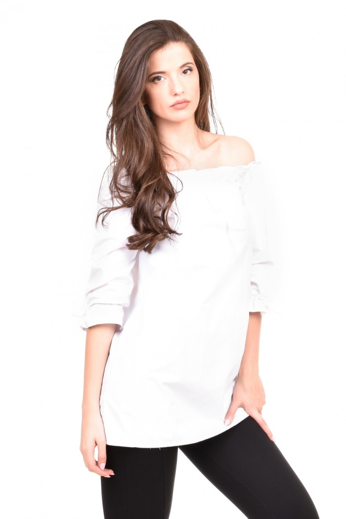 White loose fit blouse Darma