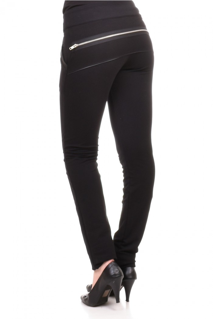Black trousers with zipper Morina