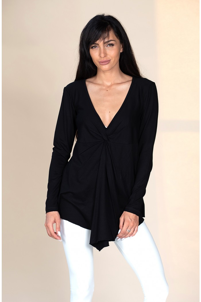 Comfortable blouse with V neck Siciliana