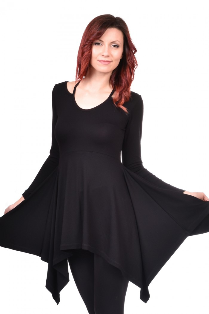 Black ladies tunic Veseliada