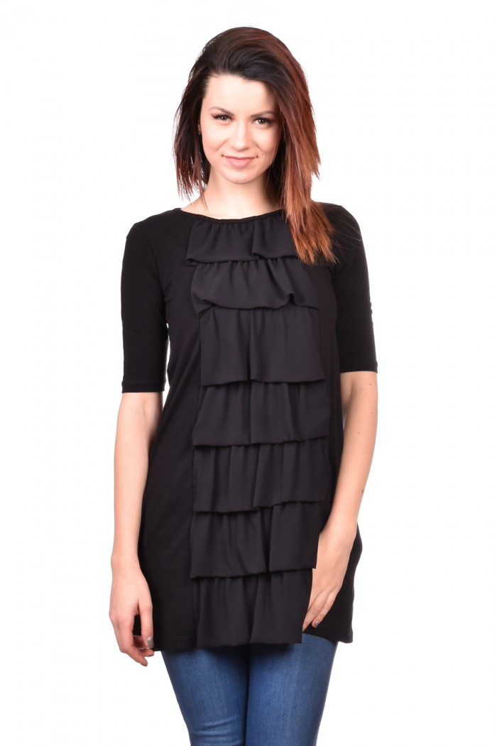 Black tunic with pockets Snejka