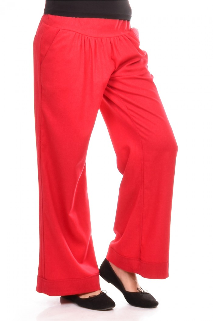Red trousers Sonia