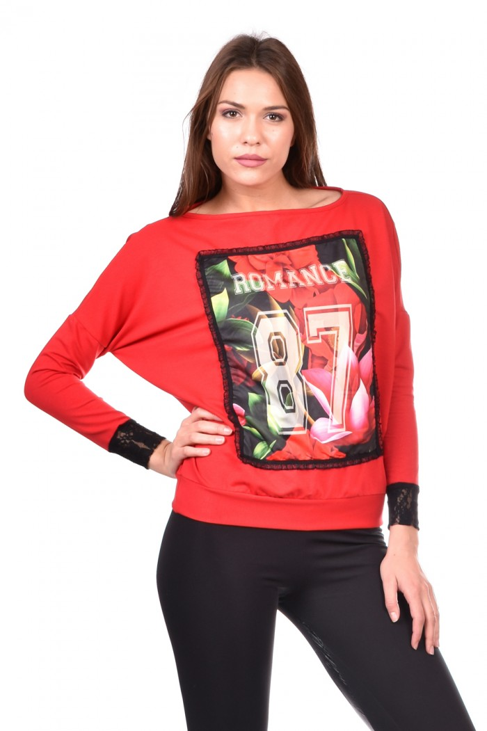 Red blouse Giurena