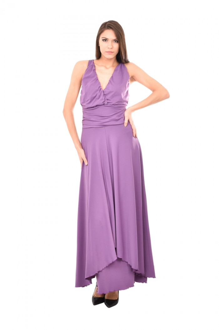 Long dress with cut out back Temida