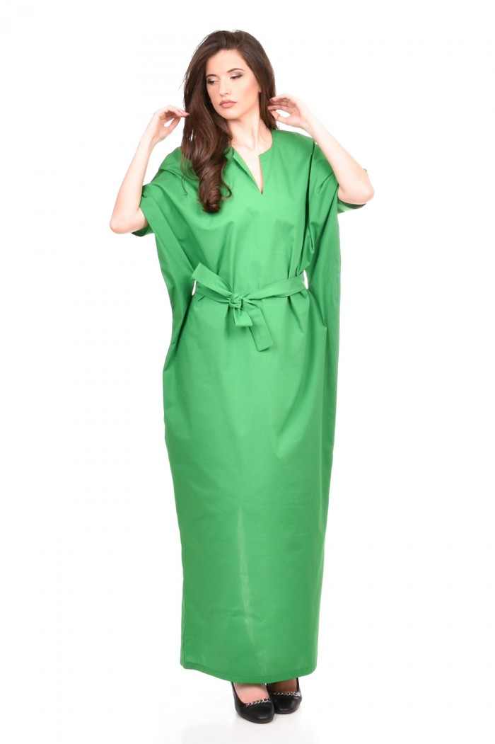 Long dress in green Ania