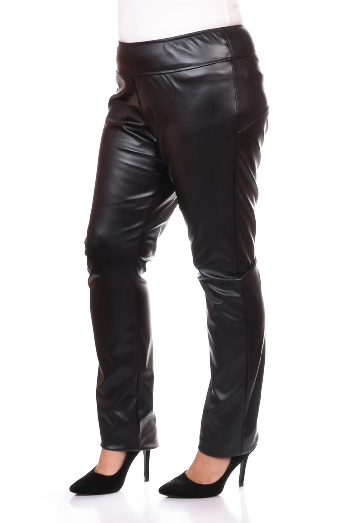 Leather trousers in black Zhaklina