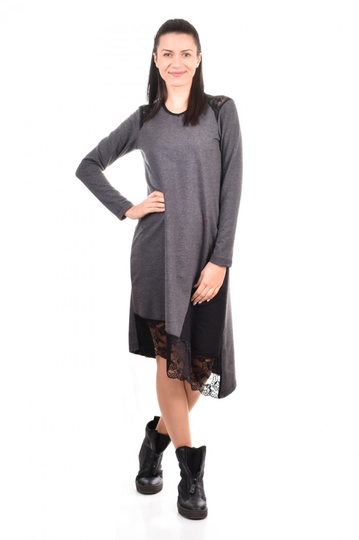 Loose fit dress in gray Meliza