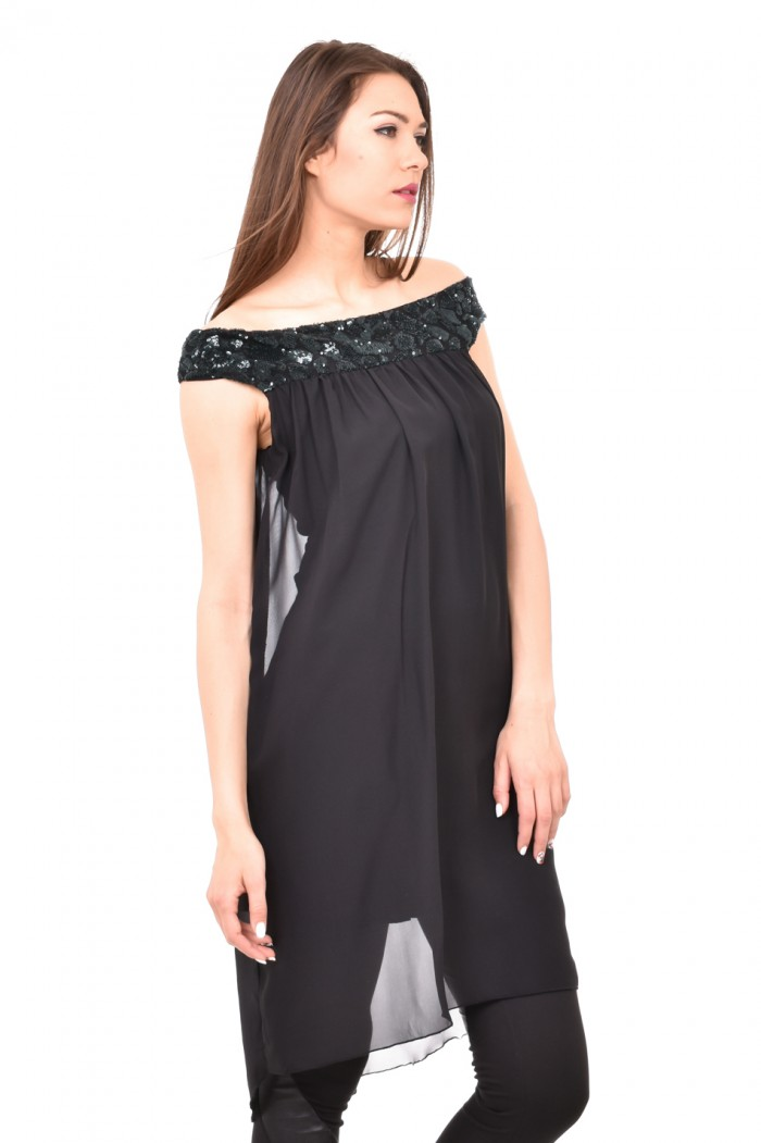 Elegant tunic with sequins Sirina
