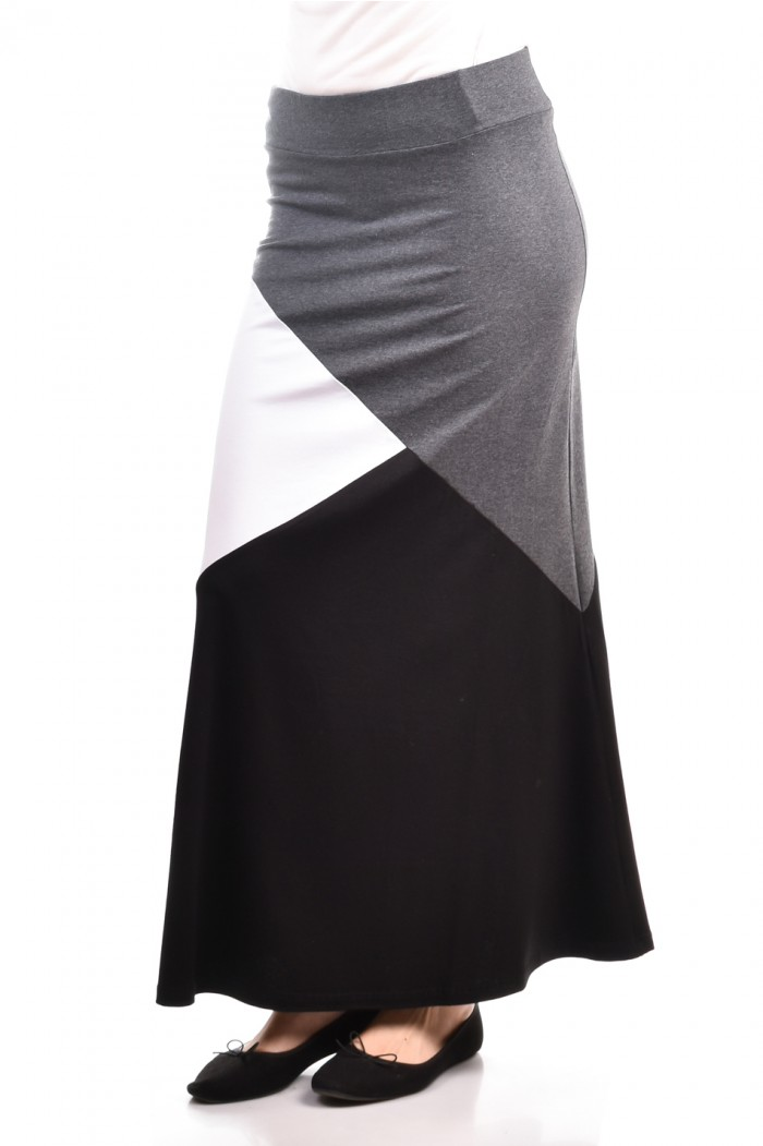 Comfortable patchwork skirt Mary-An