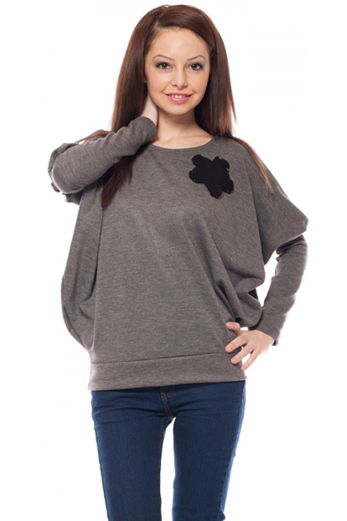 Lilianna Blouse in Gray