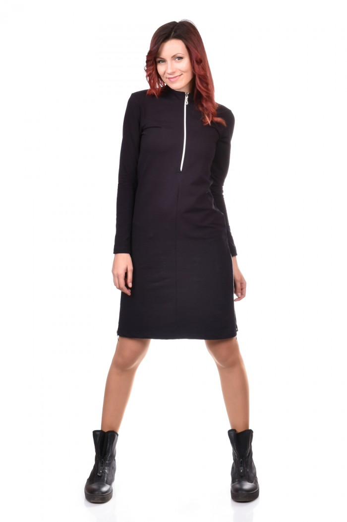Tunic-dress in Black Nadiusha