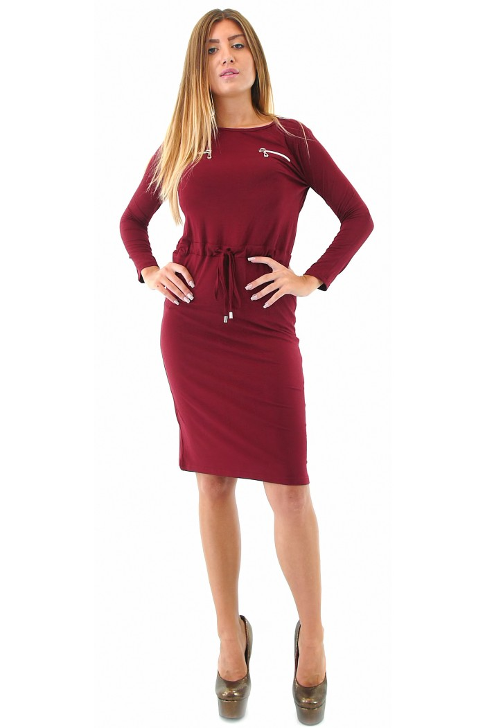 Bordeaux Knee Length Dress Arkadia