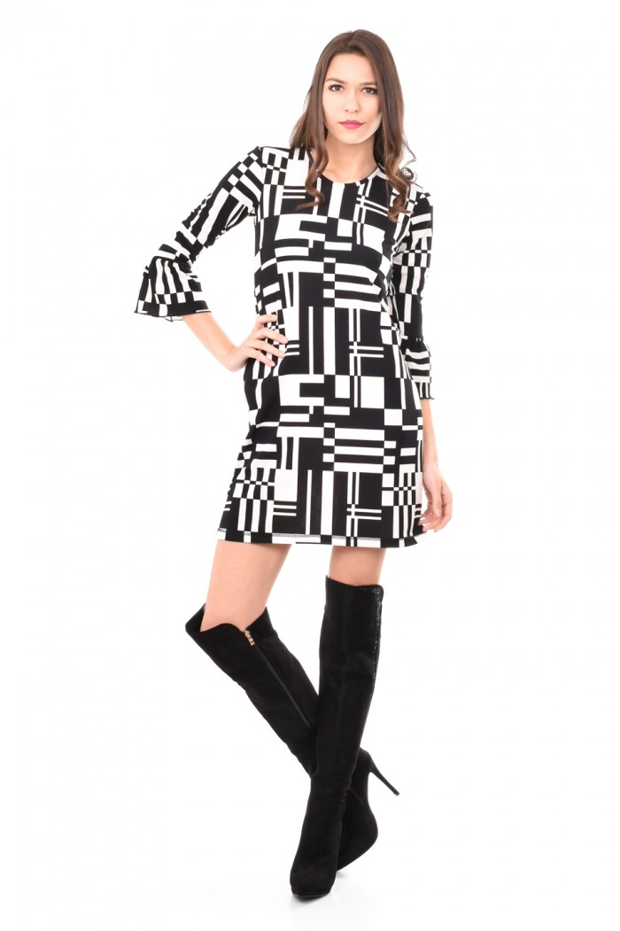 Stylish black and white dress Dimena