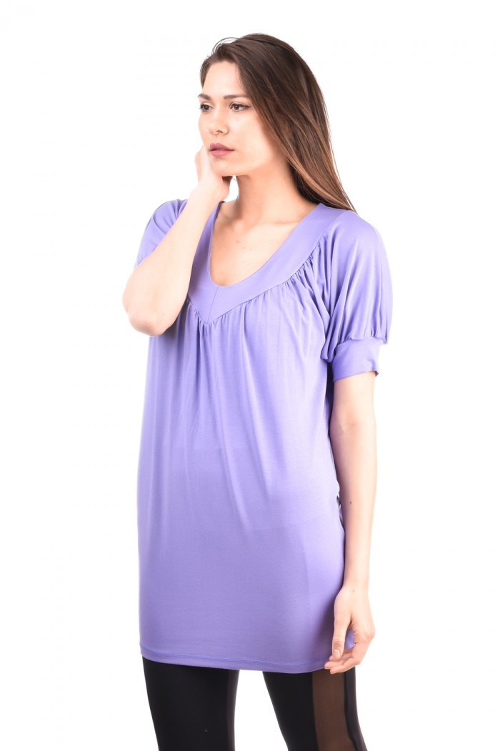 Purple blouse with puff sleeves Dayana-Anna