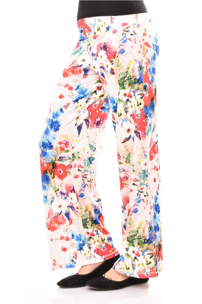 Loose fit floral trousers Svila
