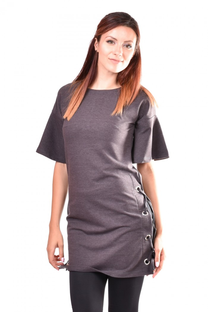 Tunic in dark gray