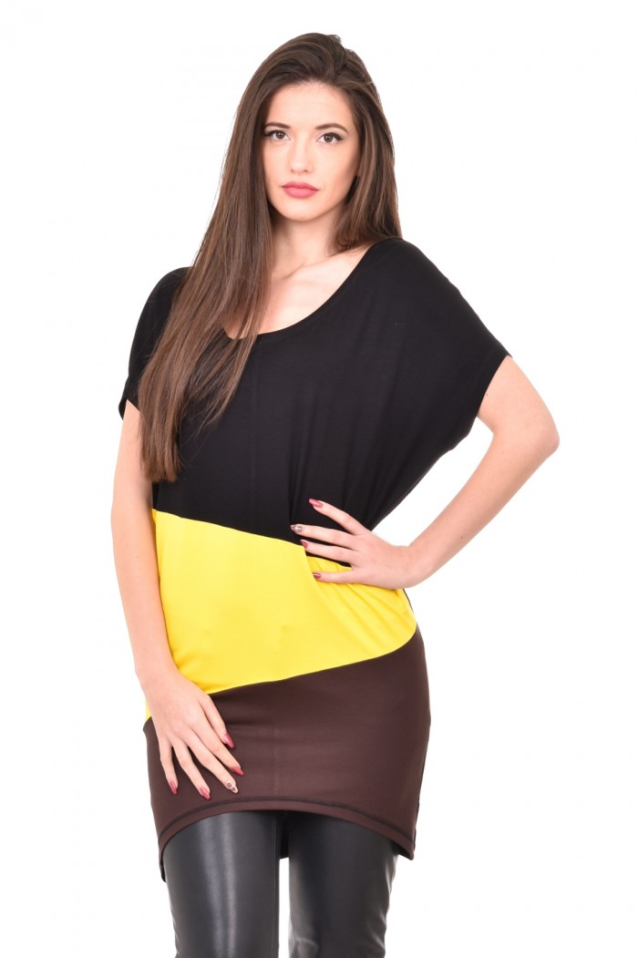 Three-coloured tunic Kristina-Mariya