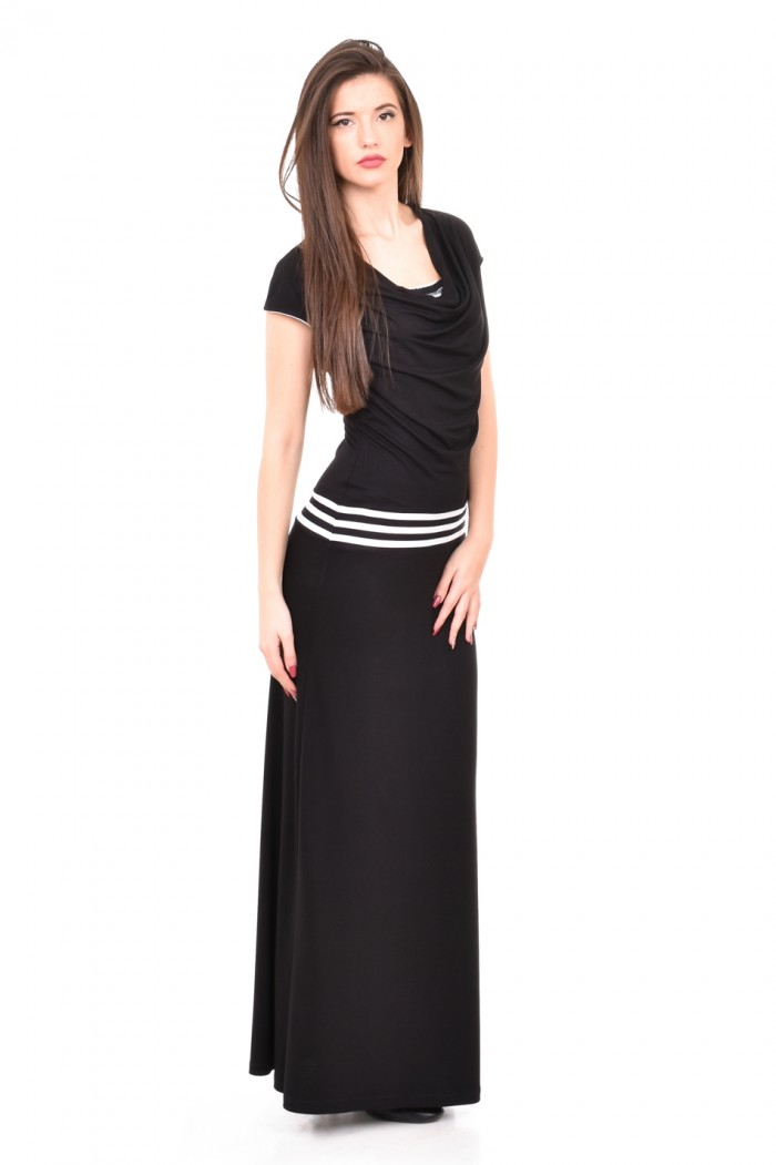 Long dress in black and white Zhanislava
