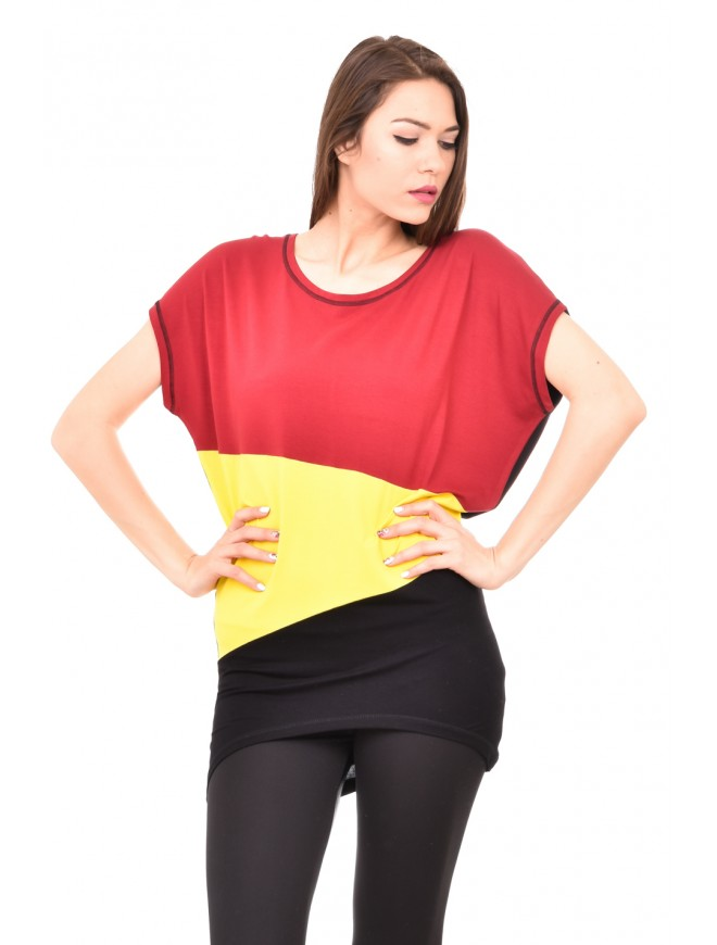 Asymmetric colourful tunic Kristina-Mariya