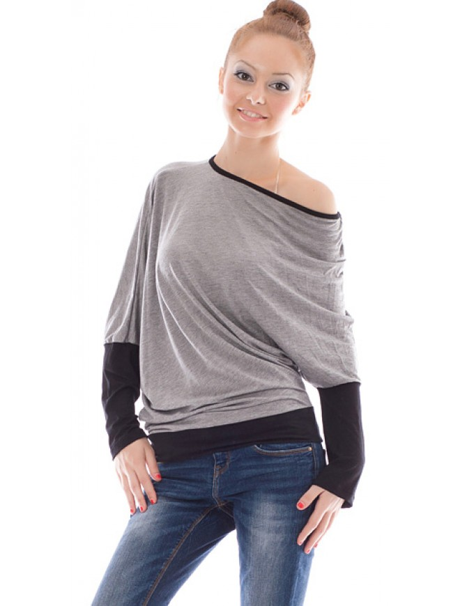Elisaveta Light Gray Blouse