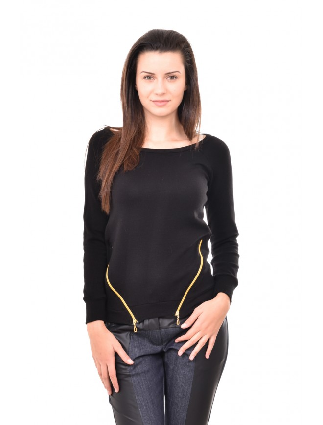 Blouse with long sleeves and zippers Nina