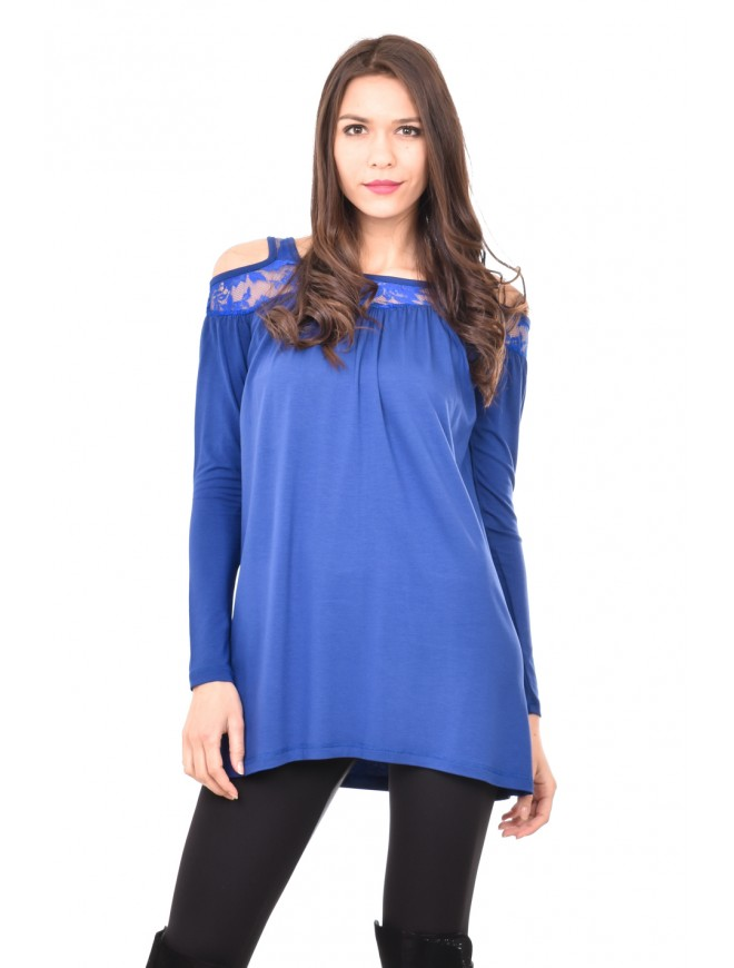 Blouse with cut out shoulders Liysena