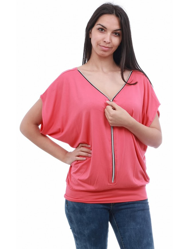 Europe Blouse with Short Sleeves