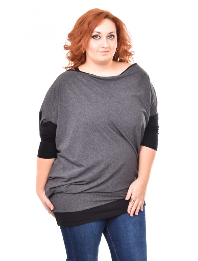 Elisaveta Dark Gray Blouse
