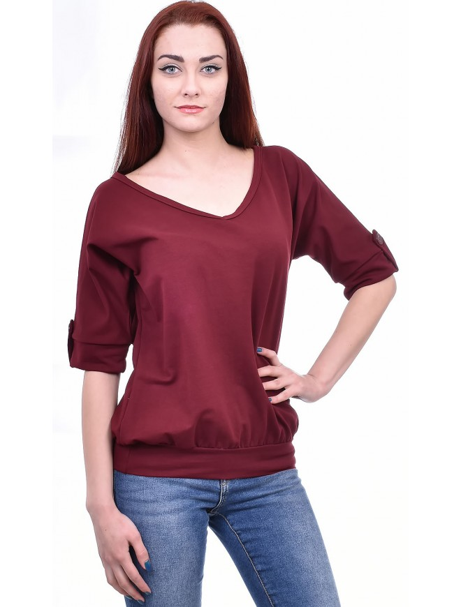Carrie Bordeaux Blouse