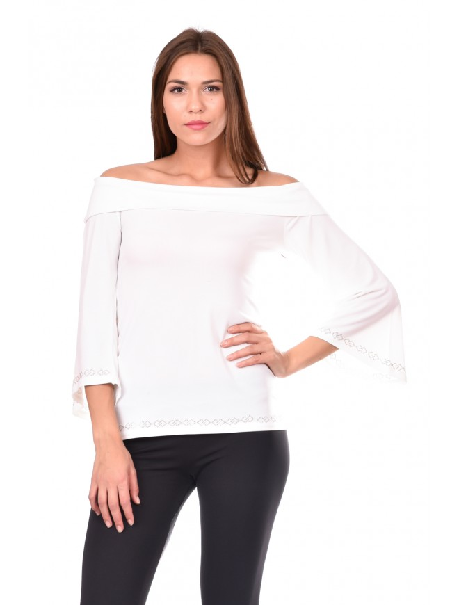 Blouse in white Spanislava