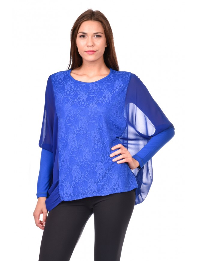 Blouse in a dark blue Ralitsa