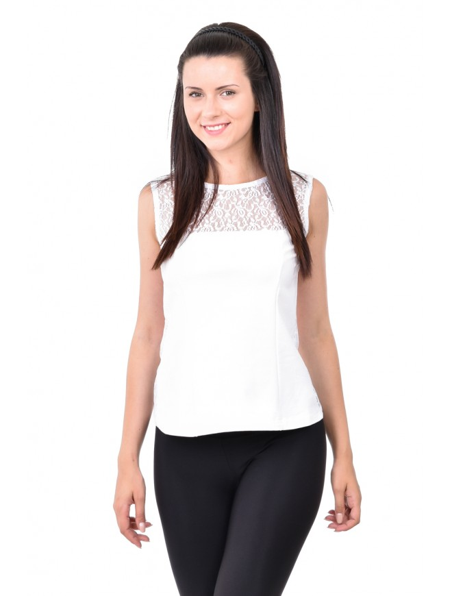Sevdarina Women Tank-top in white
