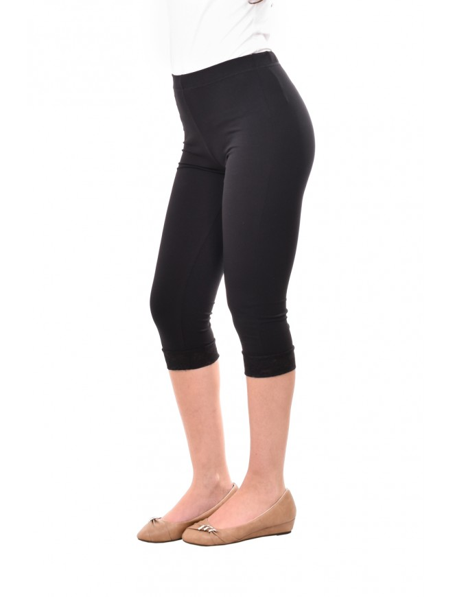 Black leggings with lace Iberia