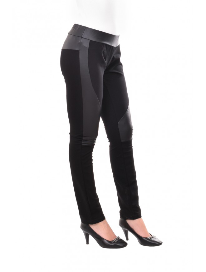 Black leggings with leather Neven
