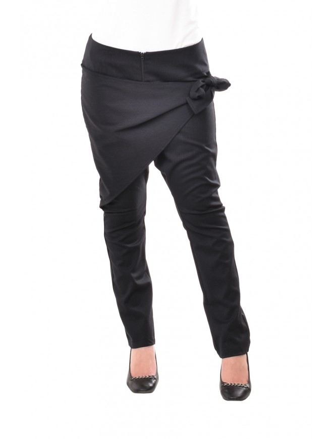 Black trousers-breeches with belt Sumaya