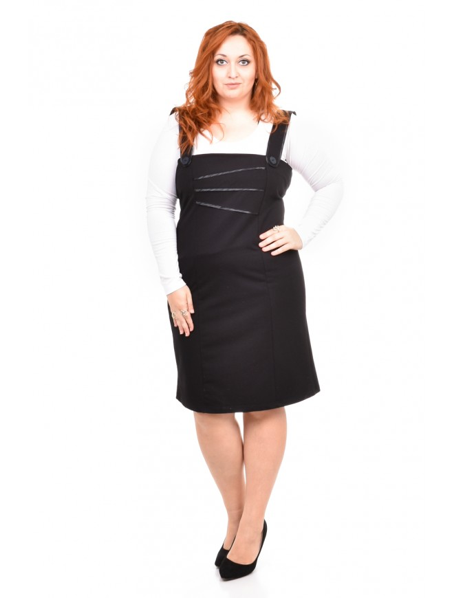Lina Black Pinafore