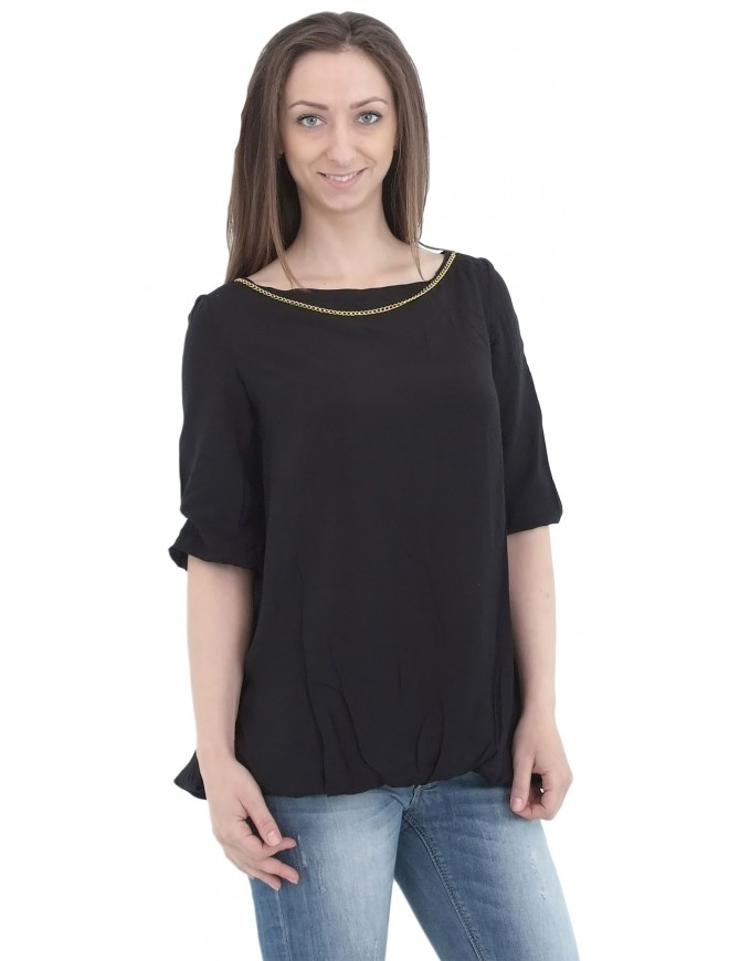 Koprinka Black Blouse