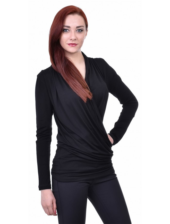 Plamena Black Blouse