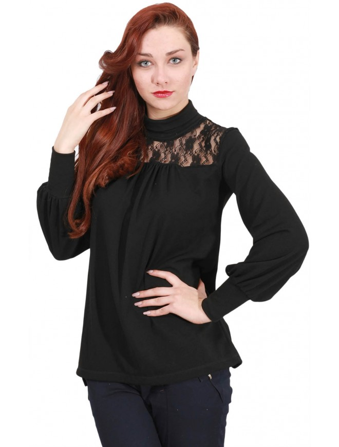 Zvetaya Black Blouse