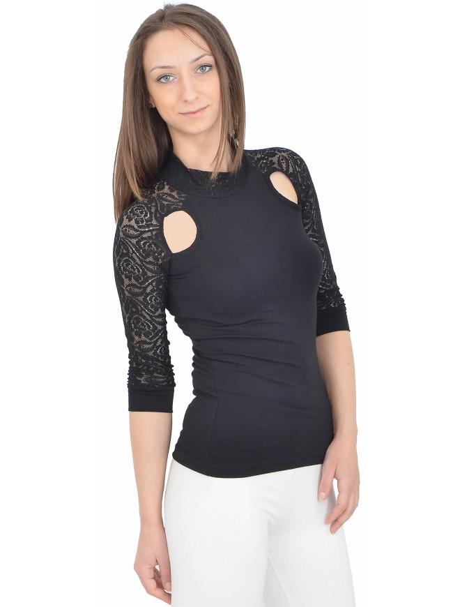 Vasilena Black Blouse