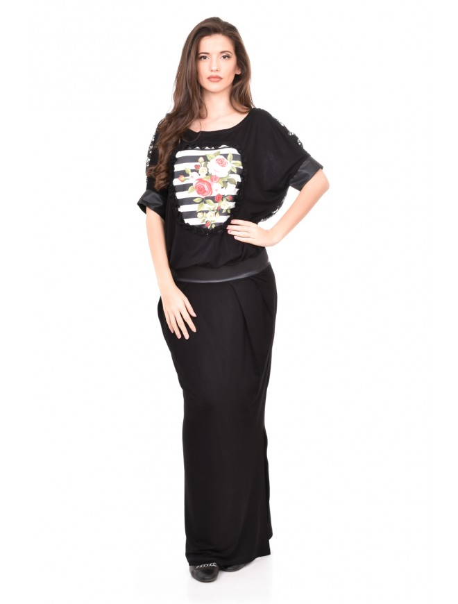 Black long dress Zhandira