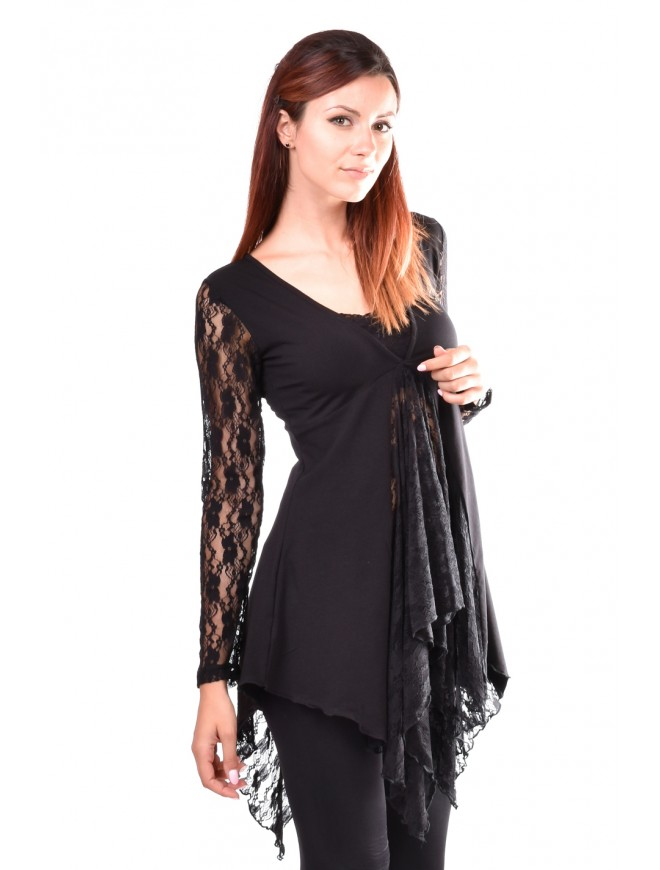 Black Lady Tunic Love