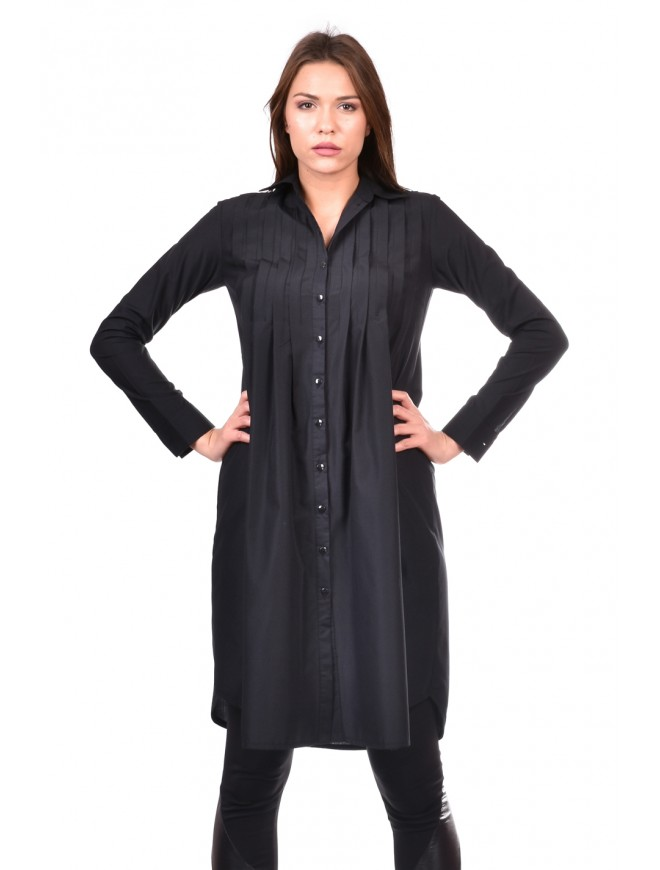 Black shirt-dress Vestimira