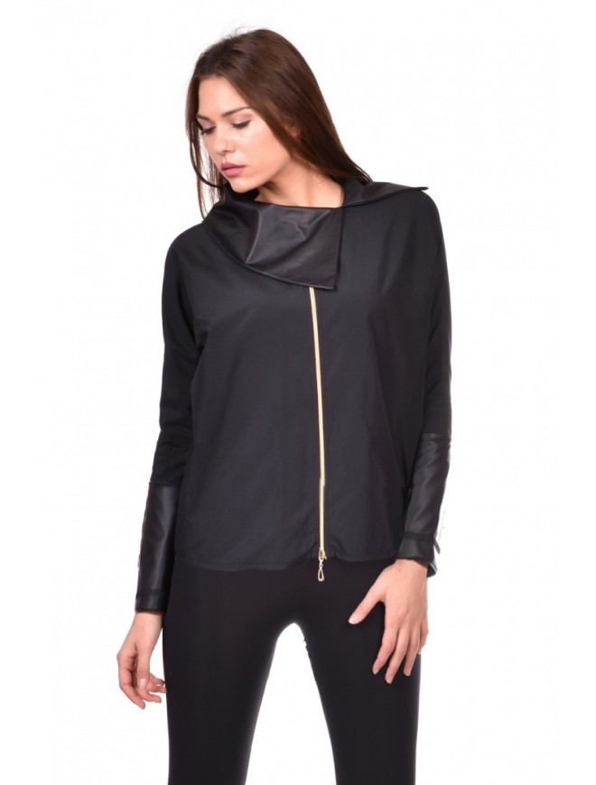 Black zipper shirt Astrpmeria